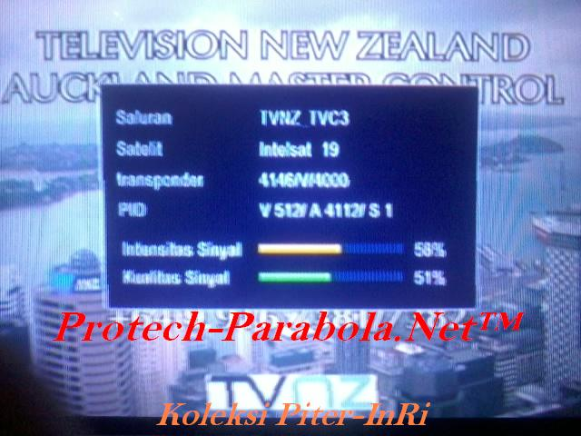 TVNZ, TVC3 on Freq 4146 V 4000 @ INTELSAT 19