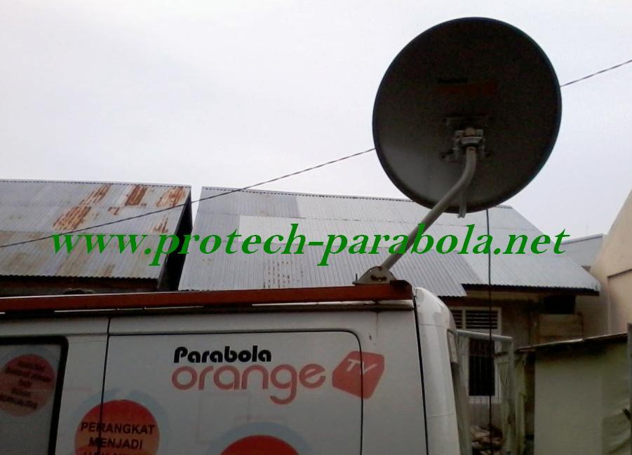 Gambar Posisi Arah Dish Orange TV Foto Di Ambil Dari Arah Timur
