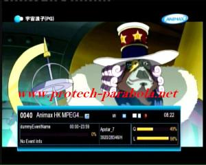 ANIMAX Hong Kong on Freq 3920 H 28345 FTA, no sound