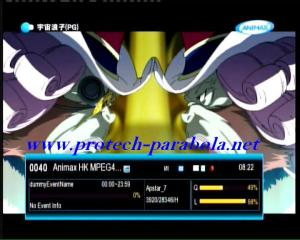 ANIMAX Hong Kong on Freq 3920 H 28345 FTA. no sound