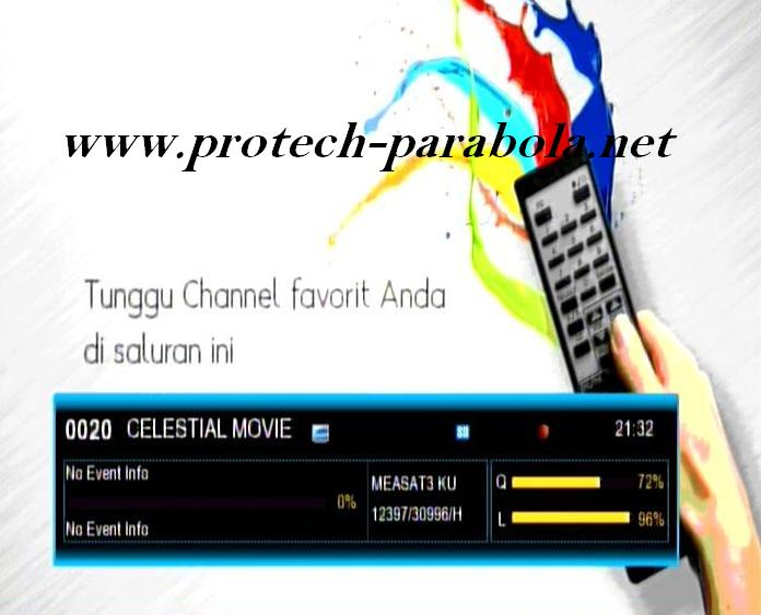 CELESTIAL MOVIES on K VISION MEASAT KU Band