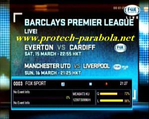 FOX SPORT on K VISION MEASAT KU Band