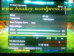 SCC VARZ on fFreq 111050 V 30000 @ ST 2 KU Band