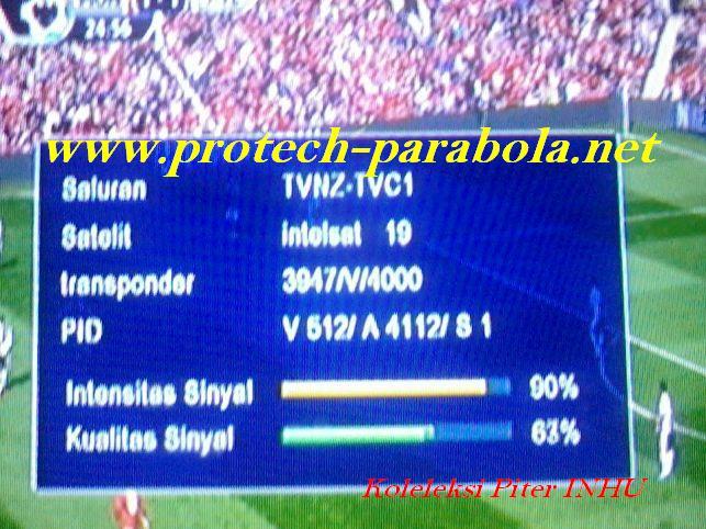 TVNZ. TVC3 Freq 3947 V 4000 @ Intelsat 19