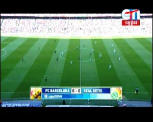 BARCELONA vs REAL BETIS on CTN @ Apstar 6 Kick Off