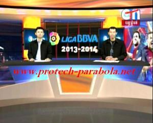 CTN Freq 4052 H 9628 , Mpeg, FTA @ Apstar 6 - Live Liga Spanyol 2013-2014