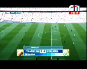 LIGA SPANYOL - BARCELONA 1 vs 0 REAL BETIS Menit 11