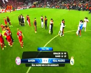 Semi Final Liga Champion Leg 2 Bayer Munchen 0 vs 4 Real Madrid Full Time