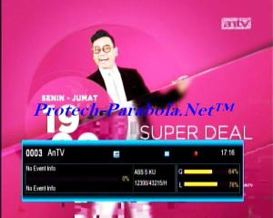 VIVA+ (AnTV) on Freq 12300 H 43215 @ Asiasat 5 KU Band