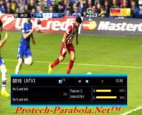 Semi Final Liga Champions on LNTV3 at Thaicom 5 & SES 8