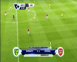 NORWICH 0 vs 2 ARSENAL on Feed Asiasat 5