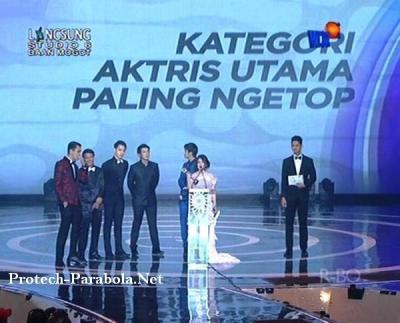 Prilly Latuconsina Pemenang SCTV Award 2014 Kategori Aktris Utama Paling Ngetop
