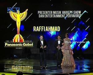 Kategori Presenter Musik, Variety Show dan Entertainment Raffi Ahmad