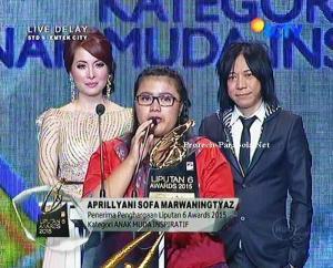Pemenang Kategori Anak Muda Inspiratif  Aprillyani Sofa Marwaningtyaz