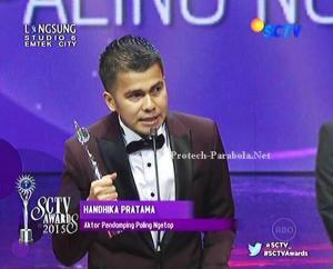 Pemenang Kategori Aktor Pendamping Paling Ngetop Handika Pratama