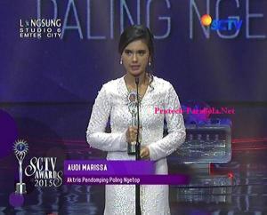 Pemenang Kategori Aktris Pendamping paling Ngetop Audi Marissa
