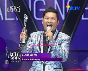 Pemenang Kategori Presenter Paling Ngetop Gading Marten